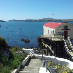 Steps leading to the old lifeboathouse at St Justinians St Davids