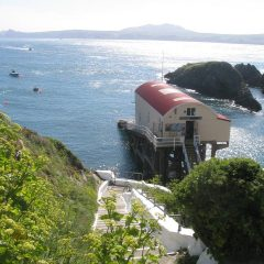 Old boathouse at St Justinians St Davids lifeboat station
