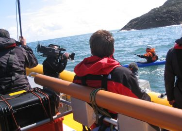 Venture Jet film boat charter for BBC Deadly 60 with Steve Backshall