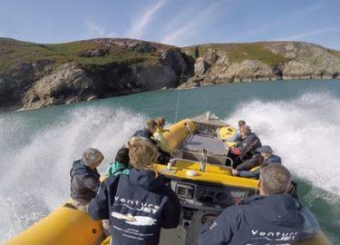 Jet boat spin on Jet Therapy trip Venture Jet St Davids
