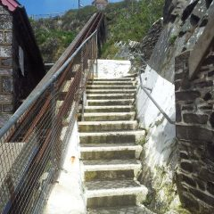Steps at St Justinians St Davids boat departure point