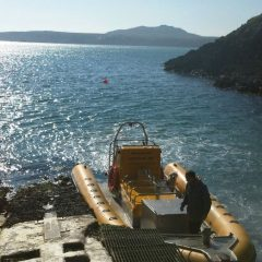 Venture Jet dry boarding from slip at St Justinians lifeboat station St Davids
