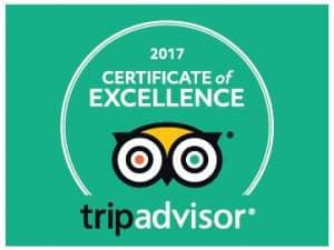Venture Jet Trip Advisor Certificate of Excellence