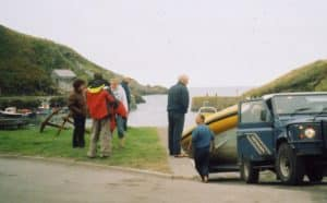 Venture Jet boat first launch 2004