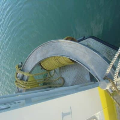 Ocean Dynamics Ribworker Atlantic Eagle refit winch guard rail