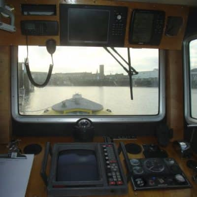 Wheelhouse in Ocean Dynamics aluminium Ribworker jet boat refit from open to cabin RIB