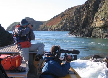 Venture Jet boat on BBC film charter