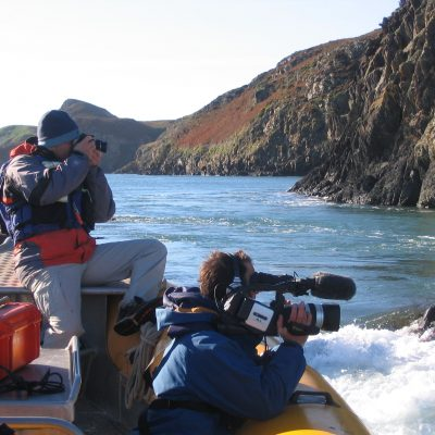 Venture Jet boat on BBC film charter