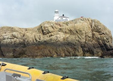 South Bishop lighthouse seen from Venture Jet boat