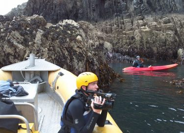 Venture Jet boat film charter with BBC