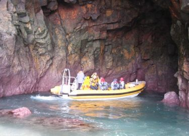 Pembrokeshire cave explored by Venture Jet Ramsey Island