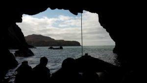 Venture Jet jet boat in Ramsey Island cave