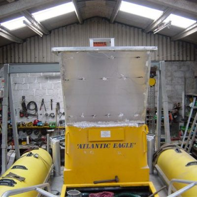 Ocean Dynamics aluminium Ribworker jet boat refit from open to cabin RIB - wheelhouse construction