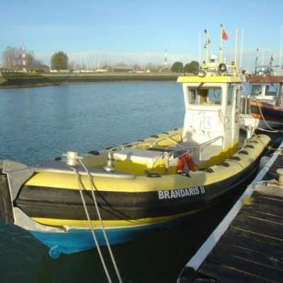 Ocean Dynamics aluminium Ribworker jet boat refit from open RIB to wheelhouse