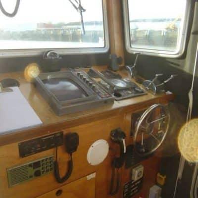 Wheelhouse in Ocean Dynamics aluminium Ribworker jet boat refit from open to cabin RIB