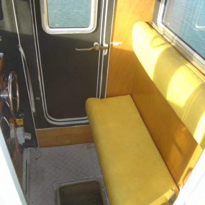 Wheelhouse seating in Ocean Dynamics aluminium Ribworker jet boat refit from open to cabin RIB